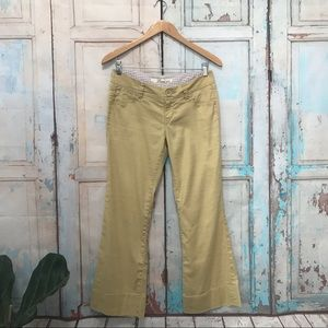 Anthropologie Level 99 Yellow Linen Wide Leg Pants